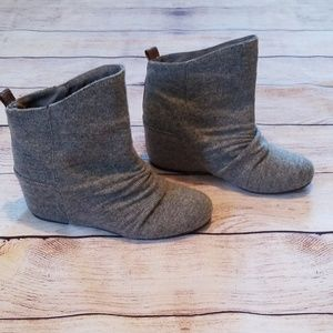Aldo sweater wedge boots